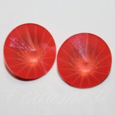 1122 rivoli chaton-crystal light coral-12mm, 1 pc.