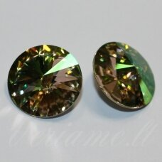 1122 rivoli chaton-crystal luminous green (001 lumg)-ss47(10.54-10.91mm), 1 pc.