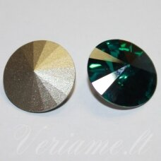 1122 rivoli chaton-emerald (205)-ss39(8.16-8.41mm), 1 vnt.