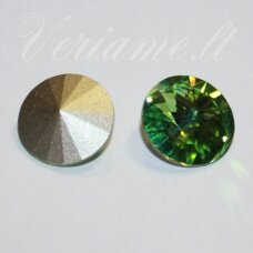 1122 rivoli chaton-peridot (214)-14mm, 1 pc.