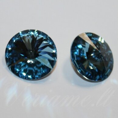 1122 rivoli chaton-aquamarine (202)-ss47(10.54-10.91mm), 1 vnt.