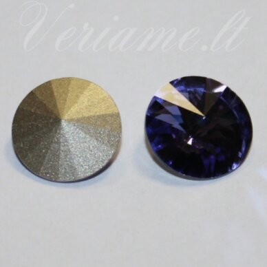 1122 rivoli chaton-tanzanite (539)-14mm, 1 vnt.