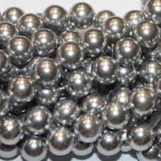 jsakpe-sid-apv-12 apie 12 mm, apvali forma, sidabrinė spalva, perlų masė, apie 32 vnt.