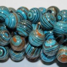jskaml-mix3-apv-04 apie 4 mm, apvali forma, sintetinis, margas, malachitas, apie 92 vnt.