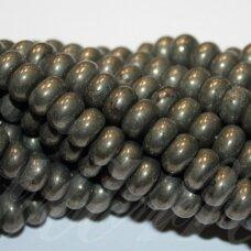 jspir-ron-03x6 apie 3 x 6 mm, rondelės forma, piritas, apie 130 vnt.