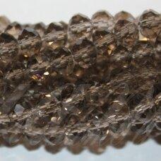 jssw0004n-ron-03x4 apie 3 x 4 mm, rondelės forma, skaidrus, pilka spalva, apie 150 vnt.