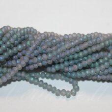 jssw0190gel-ron-3x4 apie 3 x 4 mm, rondelės forma, matinė, pilka spalva, žalsva spalva, apie 150 vnt.