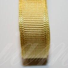 jts0350 apie 20 mm, geltona spalva, satino juostelė, 1 m.