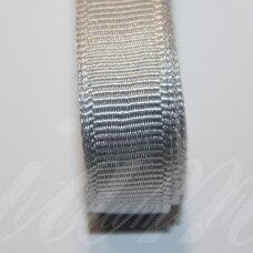jts0800 apie 20 mm, sidabrinė spalva, satino juostelė, 10 m.