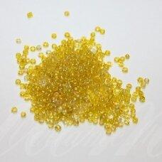 LB3353-08 apie 3 mm, apvali forma, skaidrus, geltona spalva, AB danga, apie 500 g.