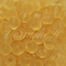 lb0002 m-06 apie 4 mm, apvali forma, skaidrus, matinis, geltona spalva, apie 25 g.