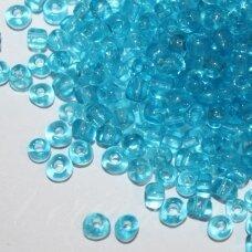 lb0003-12 apie 2 mm, apvali forma, skaidrus, žydra spalva, apie 500 g.