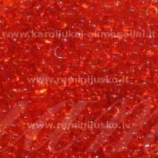 LB0005-06 apie 4 mm, apvali forma, skaidrus, raudona spalva, apie 500 g.