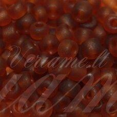 lb0013 m-08 apie 3 mm, apvali forma, matinė, ruda spalva, apie 25 g.