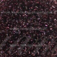lb0016-08 apie 3 mm, apvali forma, skaidrus, violetinė spalva, 25 g.