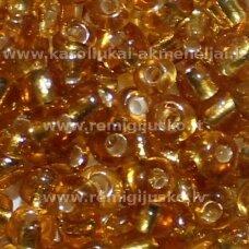 LB0022B-12 apie 2 mm, apvali forma, skaidrus, aukso spalva, viduriukas su folija, apie 25 g.