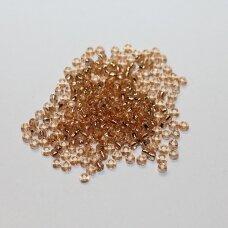 LB0039-12 apie 2 mm, apvali forma, skaidrus, alyvinė spalva, viduriukas su folija 25 g.