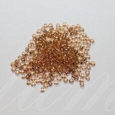 lb0039a/kn-12 apie 2 mm, apvali forma, skaidrus, rusva spalva, viduriukas su folija, apie 450 g.