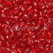 LB3015-12 apie 2 mm, apvali forma, raudona spalva, viduriukas su folija, 25 g.