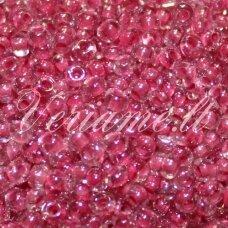 PCCB01105-09/0 2.4 - 2.8 mm, apvali forma, skaidrus, viduriukas rožinė spalva, apie 50 g.