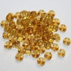 pccb10020-33/0 8 mm, apvali forma, skaidrus, geltona spalva, apie 50 g.
