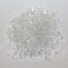 PCCB31001/46205-10/0 2.2 x 2 mm, pailga forma, balta spalva, apie 50 g.