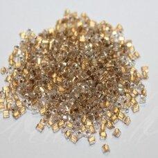 PCCB321/43001/68106-3.5/3.5 3.5 x 3.5 mm, trikampio forma, skaidrus, viduriukas aukso spalva, apie 50 g.