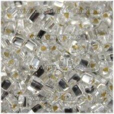 pccb321/43001/78102-3.5/3.5 mm 3.5 x 3.5 mm, trikampio forma, skaidrus, viduriukas su folija, apie 50 g.
