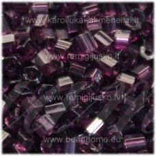 pccb351/31001/20060-10/0 2.2 x 2 mm, pailga forma, violetinė spalva, skaidrus, apie 50 g.