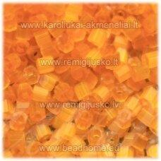 pccb351/31001/85091-08/0 2.5 x 2.5 mm, pailga forma, oranžinė spalva, blizgi danga, apie 50 g.