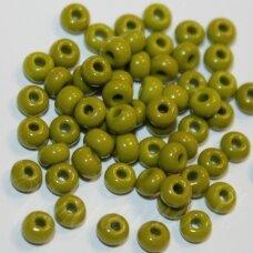 pccb53430-13/0 1.6 - 1.8 mm, apvali forma, tamsi, samaninė spalva, apie 50 g.