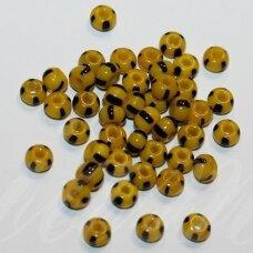 pccb83490-03/0 5.3 - 5.8 mm, apvali forma, geltona spalva, dryžuoti, juoda spalva, apie 50 g.