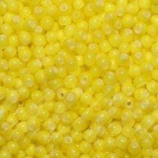 pccb83701-33/0 8 mm, apvali forma, geltona spalva, viduriukas balta spalva, apie 50 g.