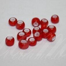 pccb93730-07/0 3.2 - 3.7 mm, apvali forma, raudona spalva, viduriukas balta spalva, apie 50 g.