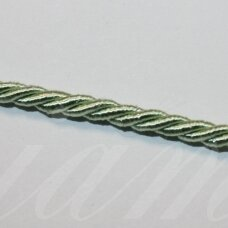 ppvgel0025 about 4 mm, light, light green color, twisted rope, 1 m.