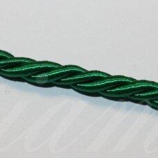 ppvgel0511 apie 3 mm, žalia spalva, sukta virvutė, 1 m.