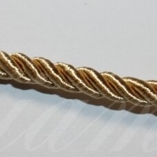 ppvgel0134 about 4 mm, gold color, twisted rope, 1 m.
