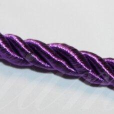 ppvgel0135 apie 3 mm, tamsi, violetinė spalva, sukta virvutė, 1 m.