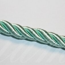 ppvgel0159 apie 5 mm, šviesi, žalia spalva, sukta virvutė, 1 m.