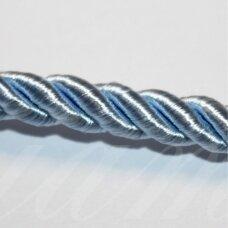 ppvgel0121 apie 5 mm, šviesi, mėlyna spalva, sukta virvutė, 1 m.