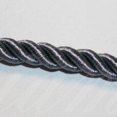 ppvgel0069 apie 5 mm, pilka spalva, sukta virvutė, 1 m.