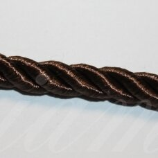 ppvgel0038 about 4 mm, dark, brown color, twisted rope, 1 m.