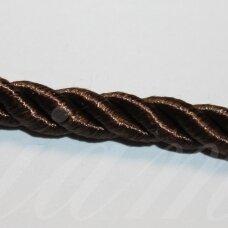 ppvgel0038 apie 3 mm, tamsi, ruda spalva, sukta virvutė, 1 m.