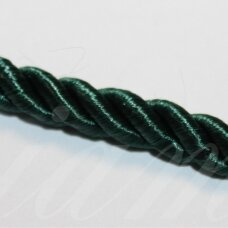 ppvgel0142 about 4 mm, dark, green color, twisted rope, 1 m.