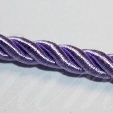 ppvgel0150 apie 5 mm, alyvinė spalva, sukta virvutė, 1 m.