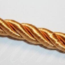 ppvgel0521 apie 5 mm, oranžinė spalva, sukta virvutė, 1 m.