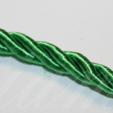 ppvgel0065 about 4 mm, green color, twisted rope, 1 m.