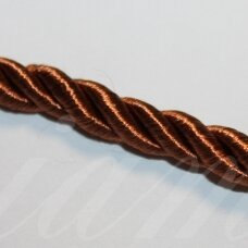 ppvgel0068 about 5 mm, brown color, twisted rope, 1 m.