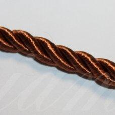 ppvgel0068 apie 3 mm, ruda spalva, sukta virvutė, 1 m.