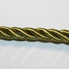 ppvgel0050 apie 3 mm, šviesi, samaninė spalva, sukta virvutė, 1 m.